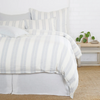 Carter Duvet, Ivory/Denim