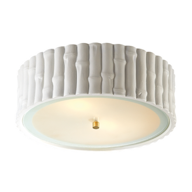 Bamboo Flush Mount, White