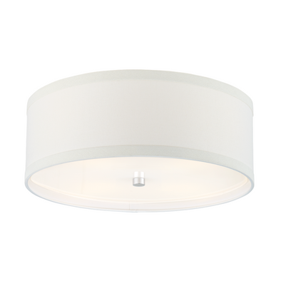 Brandywine Flush Mount, White Linen