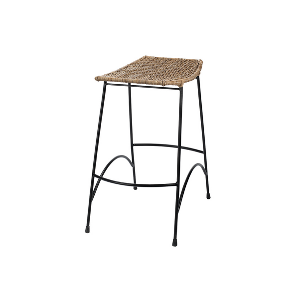 Clarkson Stool, Natural Rattan