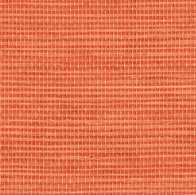 grasscloth wallpaper in coral color
