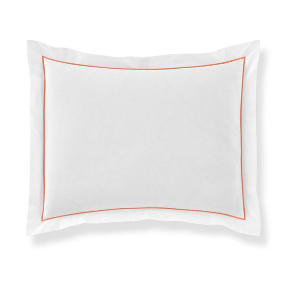 pillow sham with coral piping