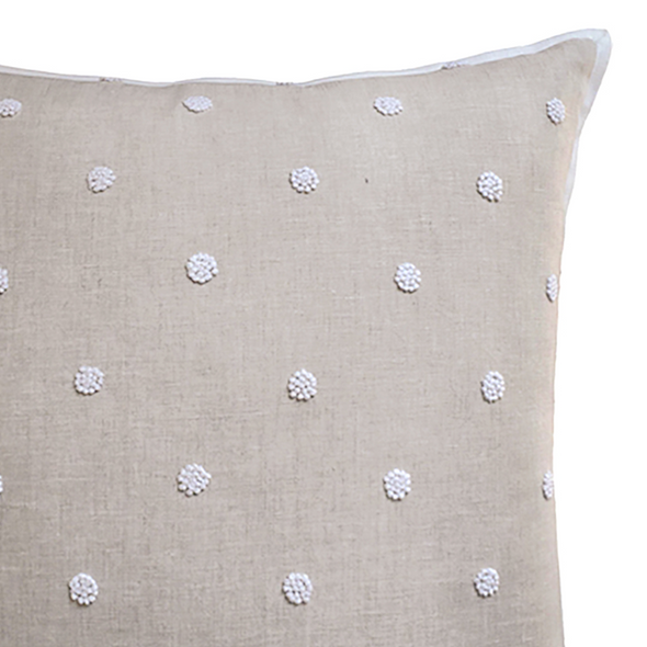 Abilgail Embroidered Pillow, Natural