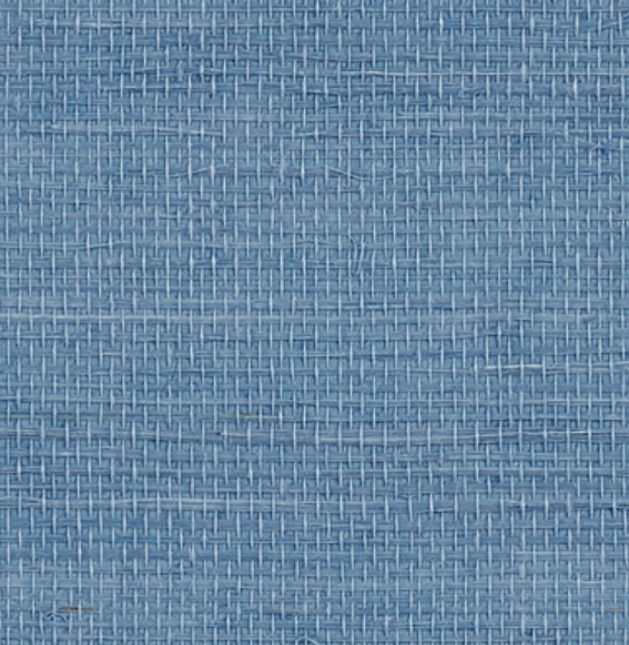 grasscloth wallpaper in French Blue color