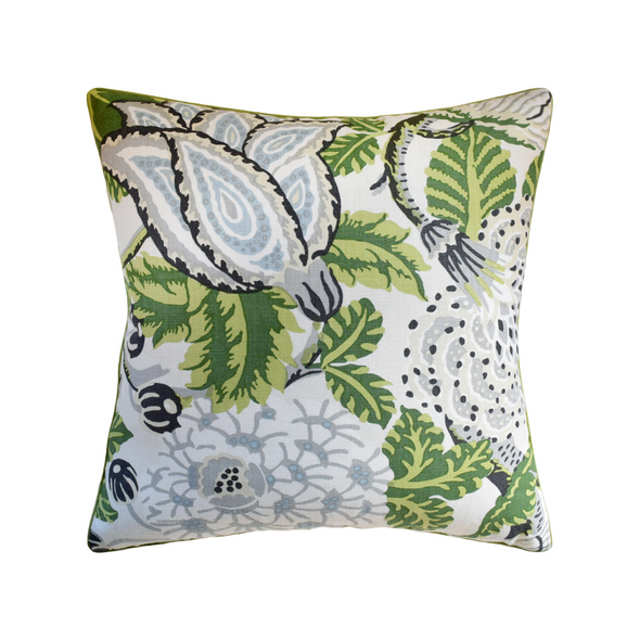 Hale Floral Pillow, Green