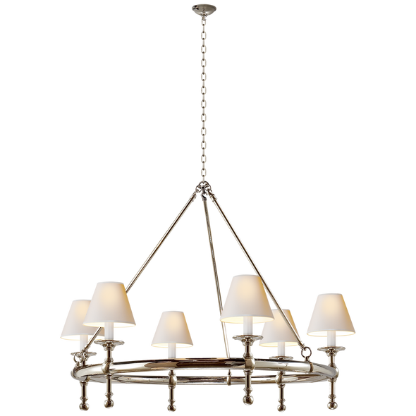 Highland Chandelier, Nickel