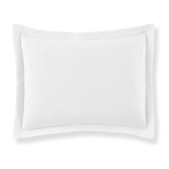 white matelasse pillow sham