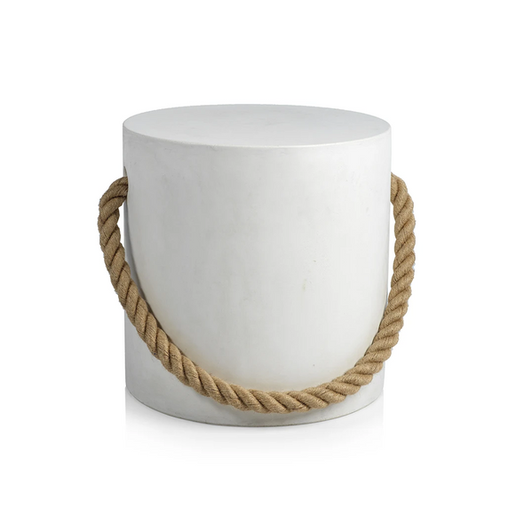 Jump to It Side Table, White Concrete