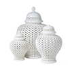 White Lattice Ginger Jar