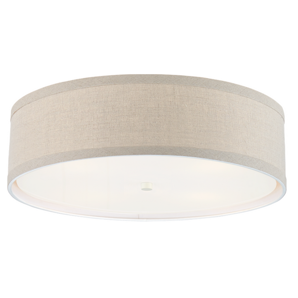 Brandywine Flush Mount, Natural Linen