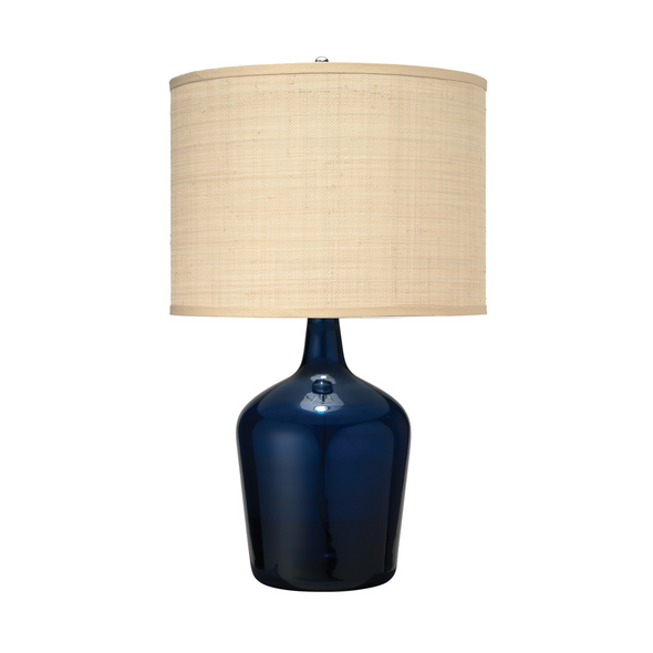 Seacliff Table Lamp, Navy Blue Glass
