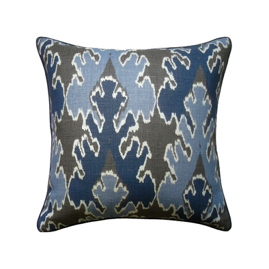 Yuma Ikat Pillow, Navy