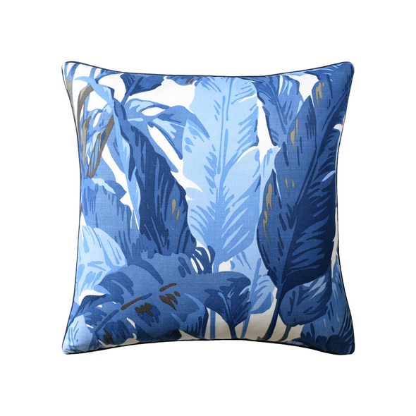 Royal Palm Pillow, Navy