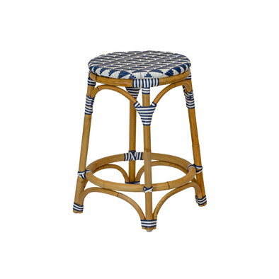 Cafe Stool, Navy & White