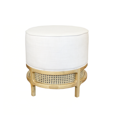 Palm Cane Stool, Natural