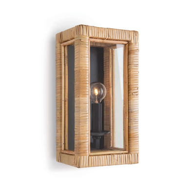 Lola Sconce, Natural Rattan