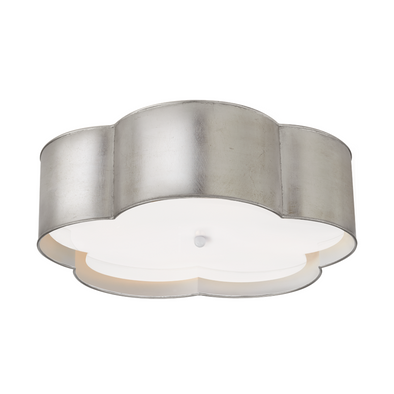 Hudson Flush Mount, Silver Leaf