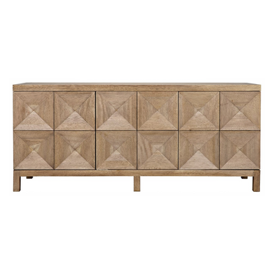 Yaletown Long Sideboard, Light Walnut