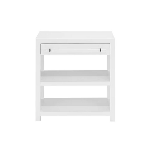Pratt Side Table, White Lacquer