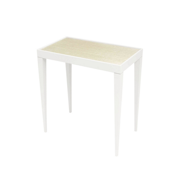 Nantucket Side Table with Grasscloth