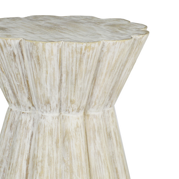 Topanga Side Table, Whitewash