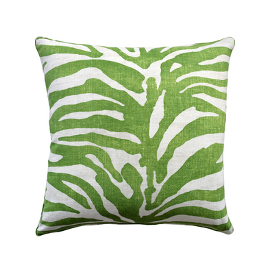 Safari Linen Pillow, Green