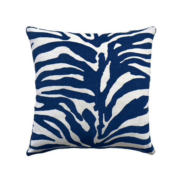Safari Linen Pillow, Navy