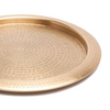 Winsford Round Tray, Antique Brass