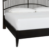 Coles Bay Bed, Black Rattan