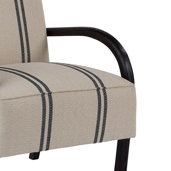 Bonsall Accent Chair, Black Oak