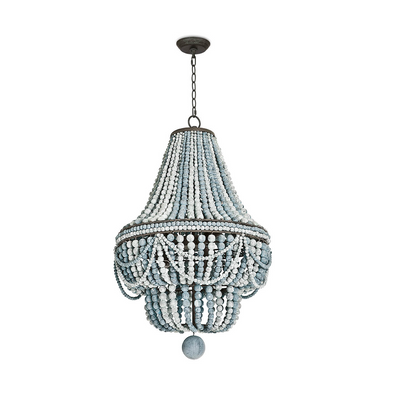 Biarritz Beaded Chandelier, Blue