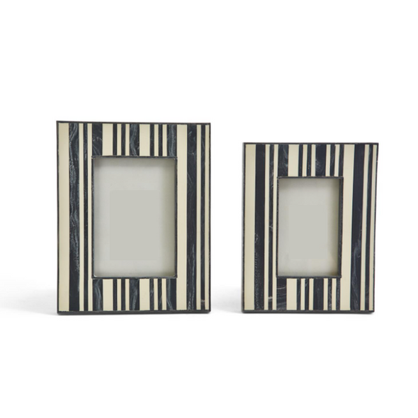 Striped Bone Photoframe, 2 sizes.