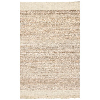 Border Stripe Jute Rug, Natural