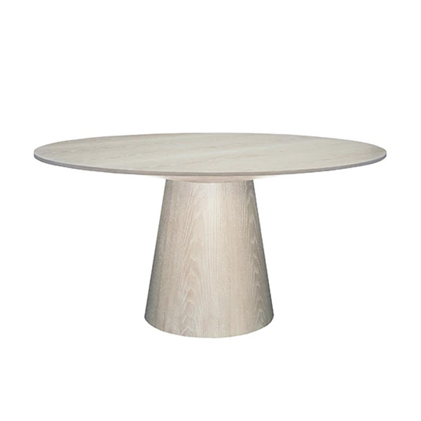 Wynwood Round Dining Table, Cerused Oak
