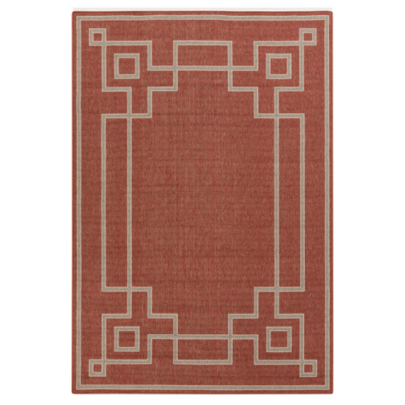 Priano Trellis Indoor Outdoor Rug, Coral
