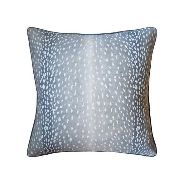 Spotted Deer Pillow, Navy