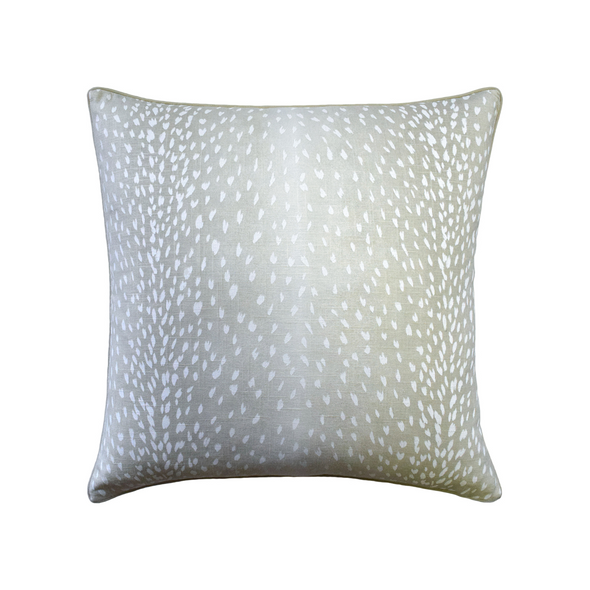 Spotted Deer Pillow, Soft Gray