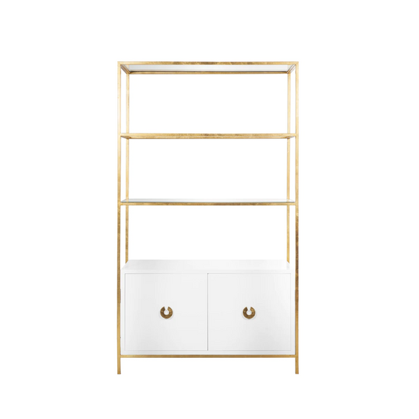 Presidio Bookcase, Brass