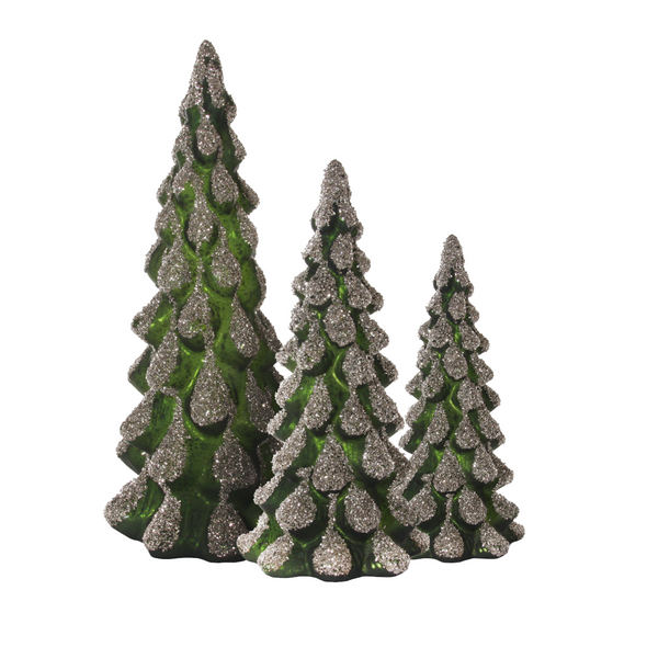 Evergreen Glass Tree, 3 sizes.