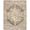 Dunmore Handknotted Rug, Navy & Oat