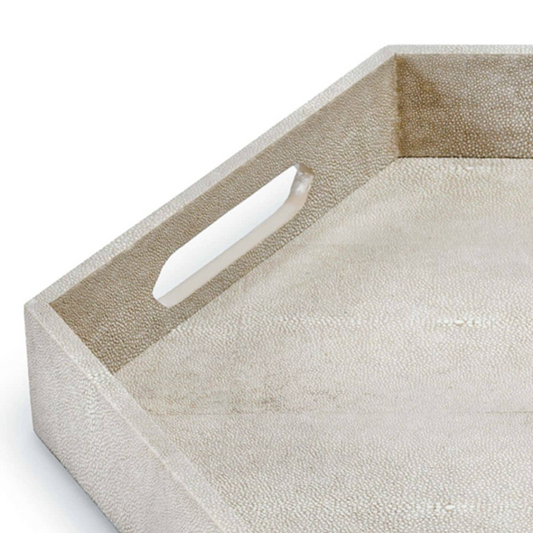 Heather Shagreen Tray, Foothill Gray