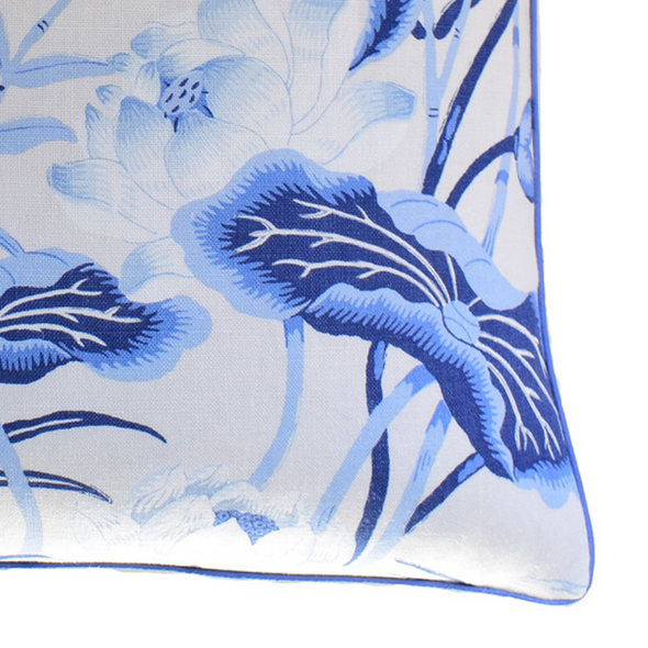 Lotus Garden Pillow, Porcelain