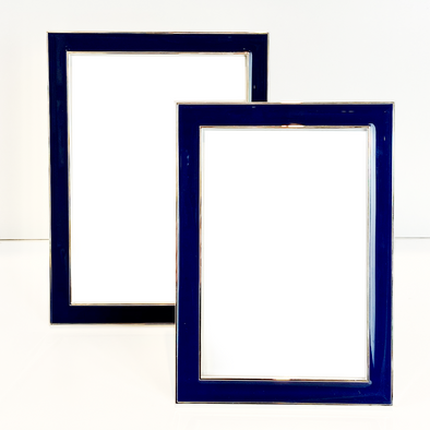 Enamel Photoframe, Navy