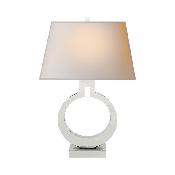 Ring Table Lamp, Polished Nickel