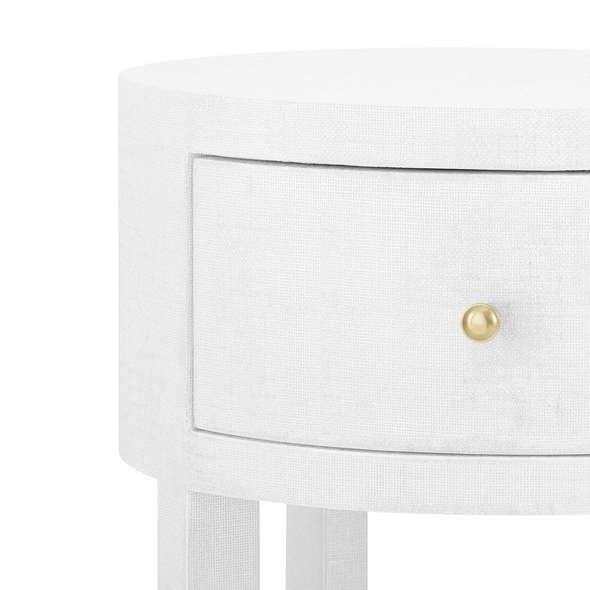 Echo Round Side Table, White
