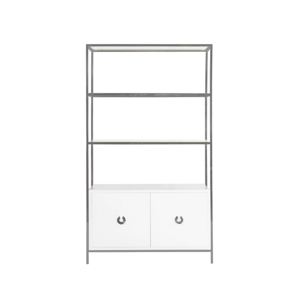 Presidio Bookcase, Nickel