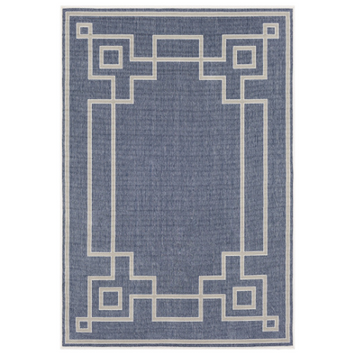 Priano Trellis Indoor Outdoor Rug, Indigo