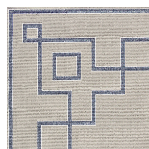 Priano Trellis Indoor Outdoor Rug, Coastal