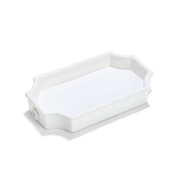 White Bamboo Trinket Tray