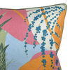 Tropical Palm Pillow, Orange + Pink